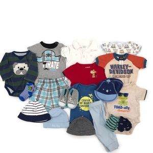 Baby Boy Clothing Lot Size 0-3 Months